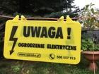 Tabliczka informująca Ogrodzenie Elektryczne